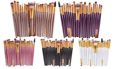 Groupon: 20-delige make-up-borstelset