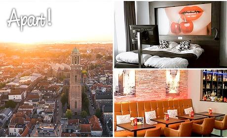 Social Deal: Overnachting voor 2 + ontbijt + wijn in hartje Zwolle