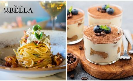 Social Deal: Afhalen: 3-gangen keuzediner bij Osteria Ciao Bella