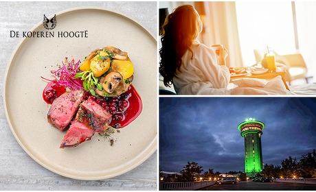 Social Deal: Voor 2 personen: luxe overnachting + bubbelbad + diner
