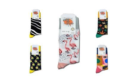 Wowdeal: 5 paar vrolijke print Socks (uniseks)