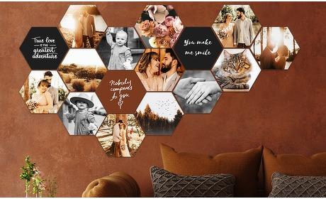 Groupon: Je eigen foto op een hexagon