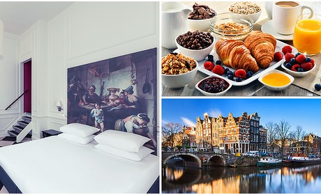 Social Deal: Overnachting voor 2 + ontbijt + late check-out in hartje Amsterdam