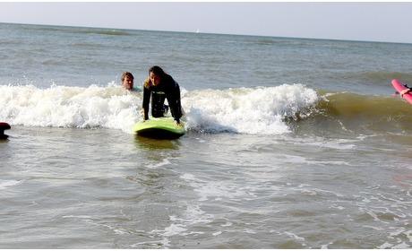 Groupon: Hele dag surfmateriaal + 2u les
