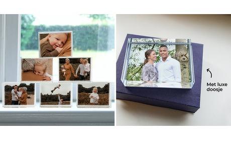 Wowdeal: Glasblok 8 x 6 cm met eigen foto