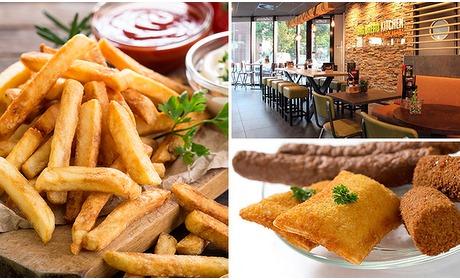 Social Deal: Afhalen: friet + saus + snack + frisdrank bij Big Bread Kitchen