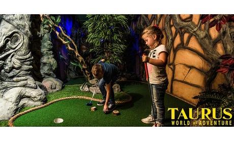 Wowdeal: Adventure Golf en 3 Arcade dollars bij Taurus
