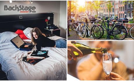 Social Deal: Overnachting voor 2 + fles bubbels + poolen in hartje Amsterdam