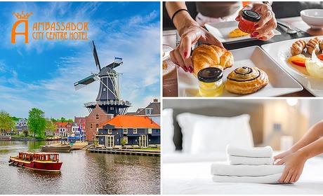 Social Deal: Overnachting voor 2 + ontbijt + evt. diner in hartje Haarlem