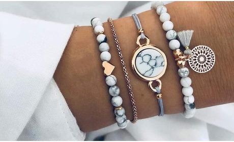Groupon: 4 boho-armbanden