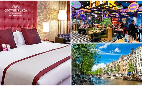 Social Deal: Overnachting voor 2 of 4 + ontbijt + evt. diner in Amsterdam