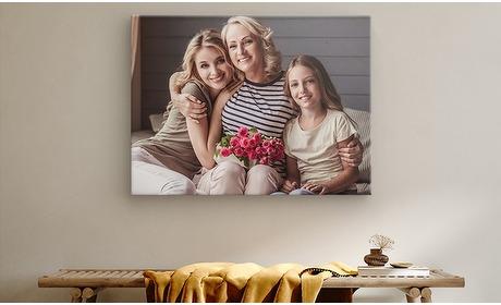 Groupon: Foto op canvas diverse afmetingen