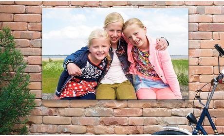 Groupon: Jouw foto op een tuinposter