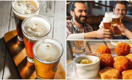 Social Deal: 3 glazen (speciaal)bier naar keuze + borrelgarnituur