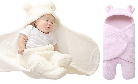 Groupon: 1 of 2 thermische inbakerdekens met capuchon voor pasgeboren baby's