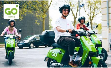 Social Deal: Huur elektrische scooter (12 uur) van GO Sharing