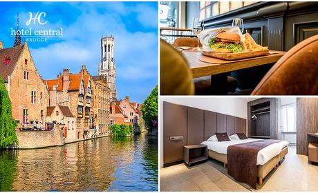 Social Deal: Overnachting voor 2 + ontbijt + diner in hartje Brugge
