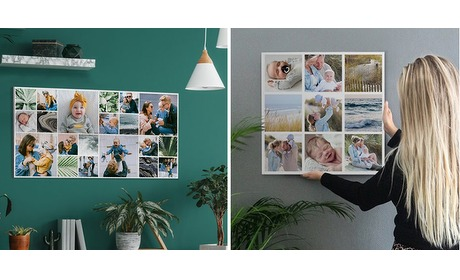 Wowdeal: Fotocollage canvas