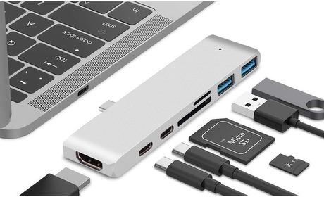 Groupon: Universele 7-in-1 USB-C hub