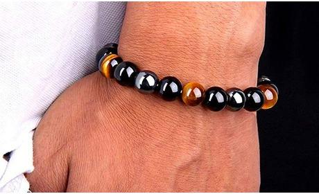 Groupon: Stenen armband met driedubbele bescherming